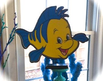 Little Mermaid FLOUNDER Centerpiece (DOUBLE-SIDED)