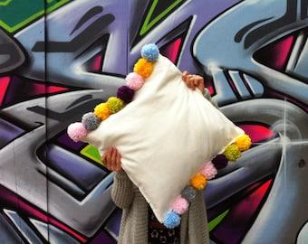 Pom Pom Pillow/Cushion Cover for your Livingroom to Bedroom