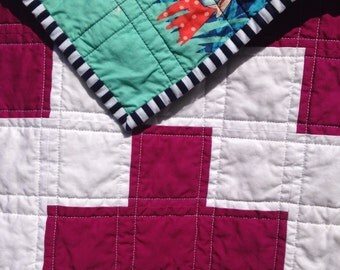 SALE!!!! Pink & White Summer Nights Plus Quilt