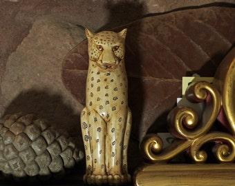 African Leopard Cat Sculpture