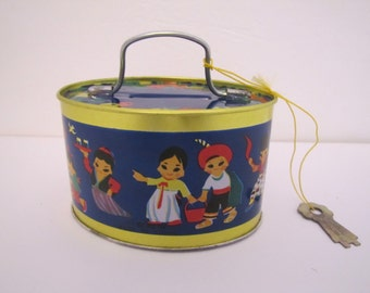Vintage Tin Coin Bank