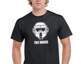 "Men's Biker Scout Trooper ""Treehugger"" Star Wars T-Shirt"
