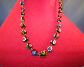 "Murano Glass Necklace, 24"" Length"