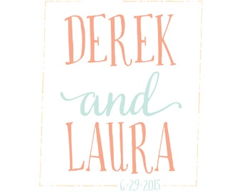 Premade Personalized Wedding Logo - Rustic and Whimsy