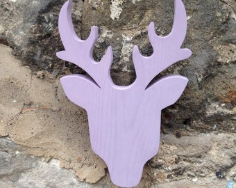 Handmade, Wooden Stag's Head