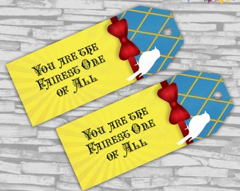 Instant Download - Snow White Inspired Birthday FAVOR TAGS - Instant Download