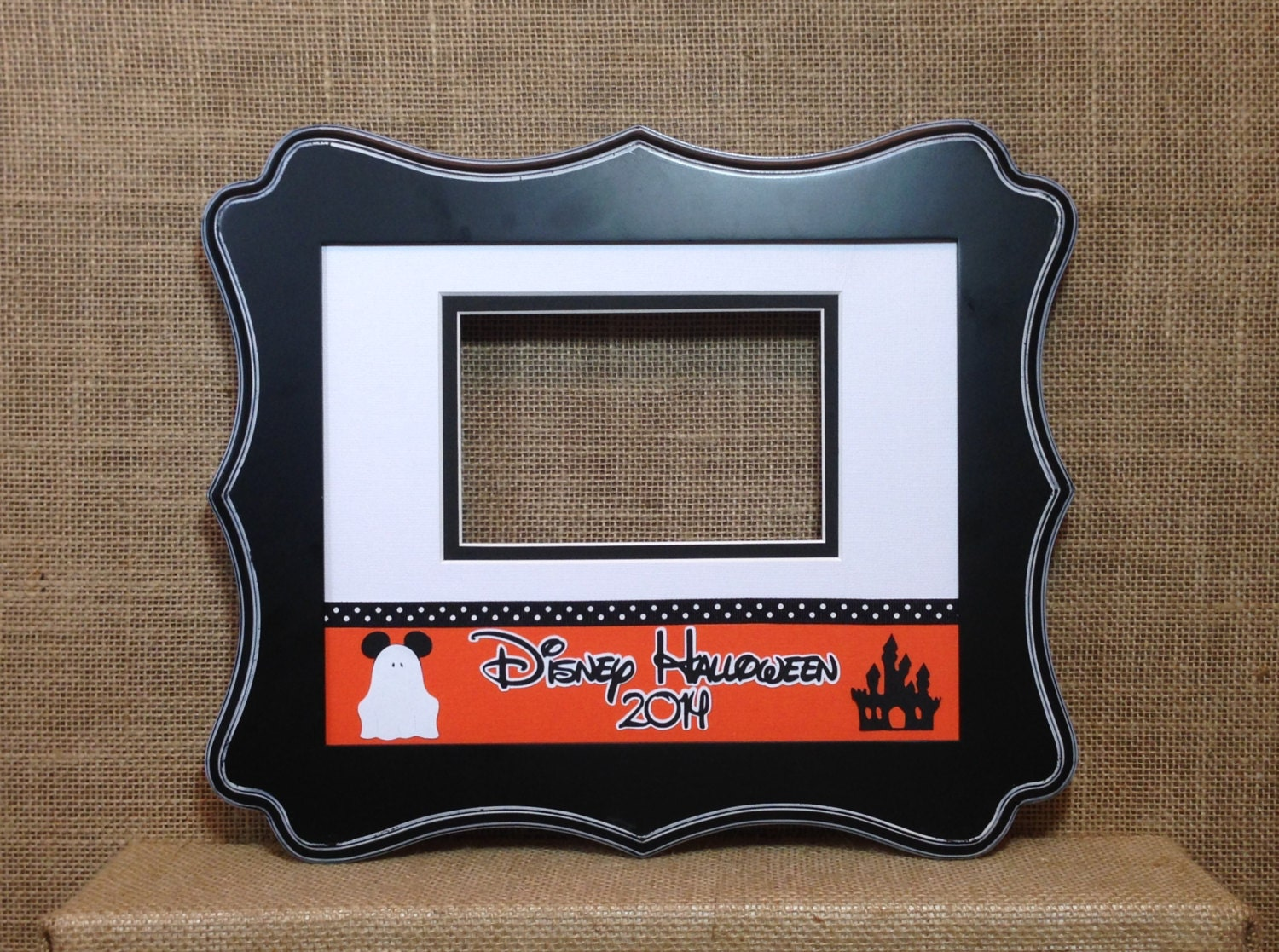 Disney Inspired Halloween Party Photo Autograph Mat Signature