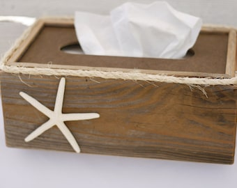 Popular items for tissue box on etsy - Beach themed tissue box cover ...