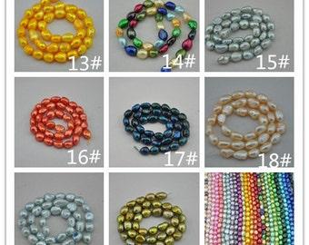 Freshwater Pearl Baroque pearls Potato Loose Beads 8.0-9.5mm 36pcs Full Strand Item---Z0013-0020