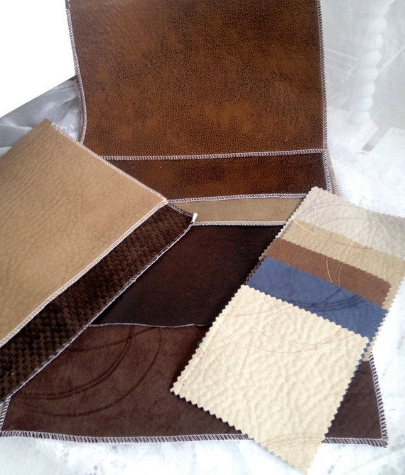 Faux seude and leather sample pieces 12 destash by dollyjayne for Leather sheets for crafting