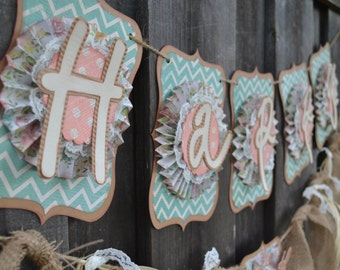 Shabby Chic Birthday Banner