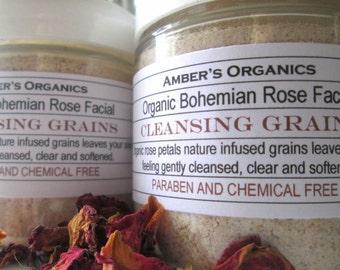 Organic Bohemian Rose Cleansing Grains - Rejuvenating.