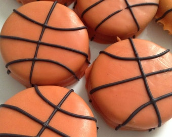 Basketball Party Favors March Madness Favors Chocolate Covered Oreos Favors Basketball Theme Party Favors Basketball Oreos Sports Favors