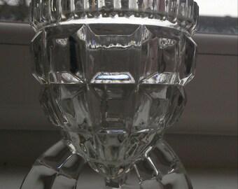 crystal grenade fragment inspired vase/candleholder