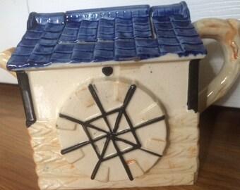 Antique Cottage Ware Windmill Teapot