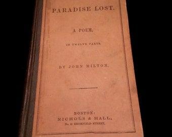 Paradise Lost A Poem In Twelve Parts John Milton 1862 Nichols Hall