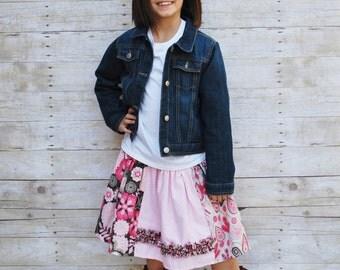 Girls skirt, girls fall skirt, girls summer skirt, girls ruffle skirt, size 3T, size 4T, size 5T, size 6, size 7