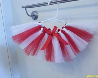 Candy Cane Tutu: Red & White