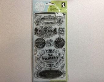 Inkadinkado Vintage Expressions stamp set