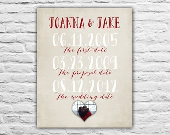 Anniversary Gift, Special Dates, 1st Anniversary Gift for Wife, First Anniversary Photo Wedding Print, Home Decor, Wall Art, Stole Her Heart