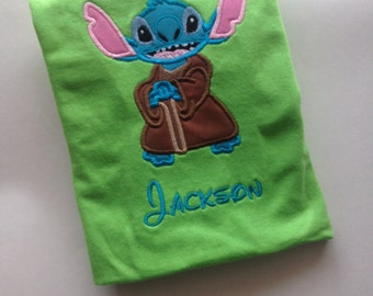 Stitch As Yoda Child Or Adult Applique T shirt Tank Top
