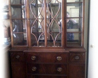PRICE SLASHED . . . Antique China Cabinet (over 100 yrs old)