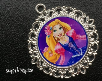 Princess Rapunzel Pendant - Princess Rapunzel  Necklace - Rapunzel Necklace - Rapunzel  jewelry - Tangled Jewelry