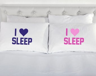 Pillowcases I Love Sleep Printed Pillow Case Teenagers Bed