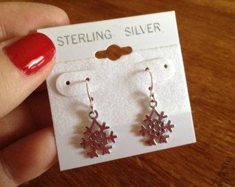 925 Snowflake Earrings
