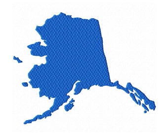 USA State Alaska Fill Machine Embroidery DESIGN NO. 354