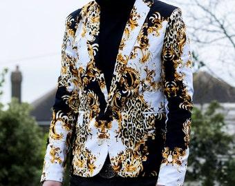 Leopard Blazer combination of elegance and audacity
