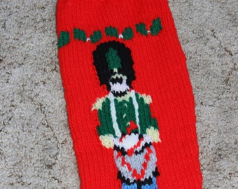 Toy Soldier Christmas Sock