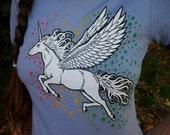 womens Unicorn ringer shirt