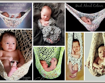 baby hammock knitting pattern twin big newborn hanging baby suspender image tutorial sling photo prop create baby sling pattern   etsy  rh   etsy