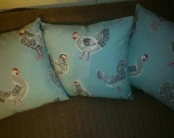 Duckegg blue Chicken cushion