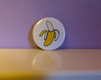 Yummy Banana 1.25 inch button