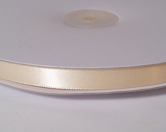 Single Face Satin Ribbon - Ivory - 100 Yards