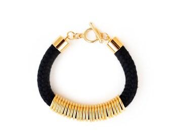 Bracelet For Her, Bracelets For Women, Fashion Bracelet, Fashion Jewelry, Black And Gold Bracelet, Boho Bracelet, Friendship Bracelet