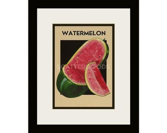 watermelon print kitchen decor melon print pink
