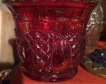 Carnival Glass Red Dish