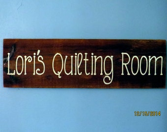 Lori's Quilting Room - Rustic Barn Board