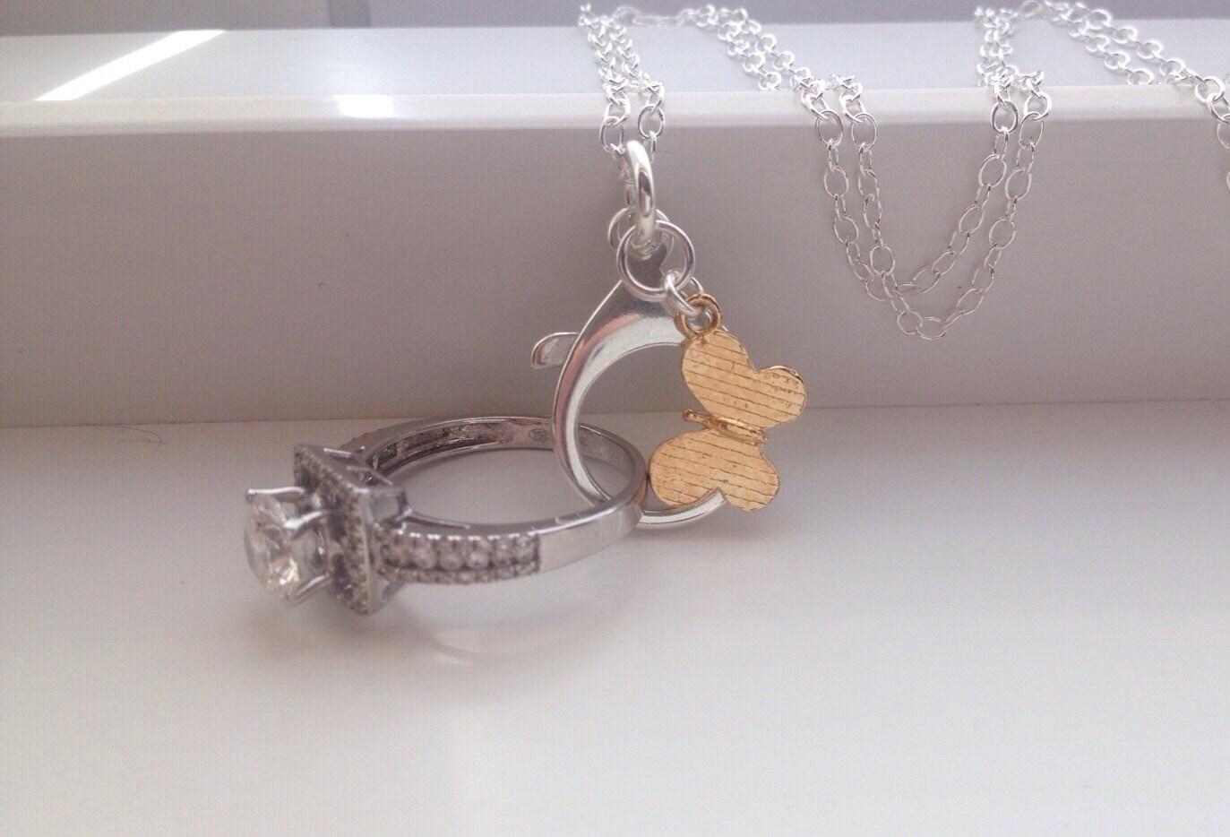 SALE Ring Holder Necklace Wedding Engagement Ring Holder