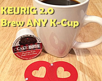 Keurig 2.0 Freedom Hack - No DRM - Resusable Red Coffee Rings (TWO) - Save money & brew any K-Cup your own coffee! Unique kitchen geekery!