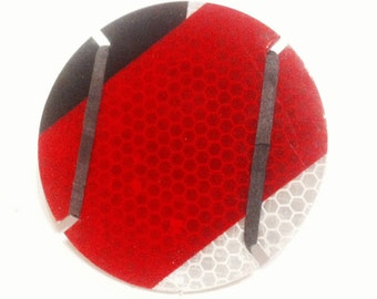 Eco-flector! 100% recycled and hand made. Reflector for your bike, trike or front gate!