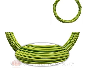 Apple Green Aluminum 12 Gauge Craft Wire For Wrapping Wire & Jewelry Work 39 Feet 11.8 Meters (Free Shipping USA)
