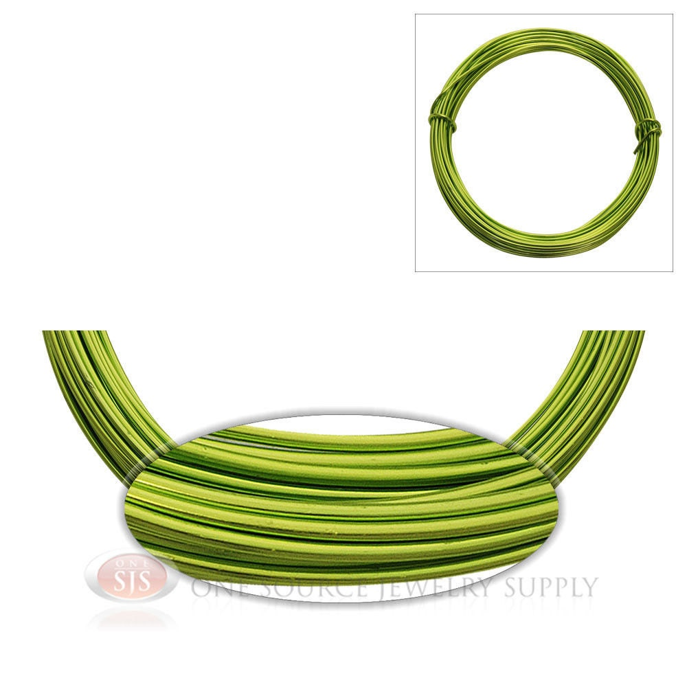 Apple green aluminum 12 gauge craft wire for wrapping wire for 12 gauge aluminum craft wire