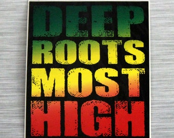 Deep Roots Most High Mini Bumper Sticker