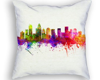 Charlotte North Carolina Throw Pillow, 18x18, Cushion Home Decor, Gift Idea, Pillow Case 02