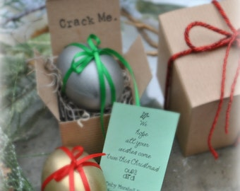 Stocking Stuffer Eggs- Message in an Egg Custom Gift Certificates and Announcements