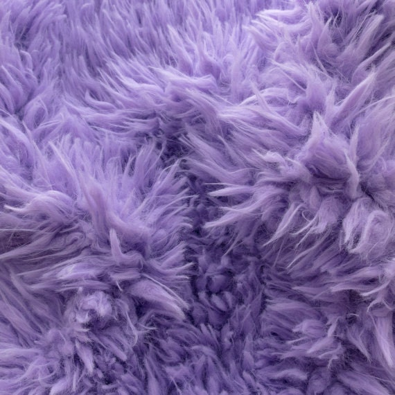 Faux fake fur sherminky soft goat hair light purple 60 inch for Purple baby fabric
